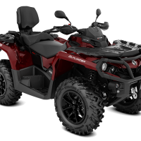 2018 Outlander MAX XT 650 Intense red T3 ABS_3-4 front