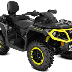 2019 Outlander MAX XT-P 1000R Carbon Black and Sunburst Yellow_3-4 front