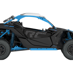 2018 Maverick X3 X rc TURBO R Carbon Black and Octane Blue_side right