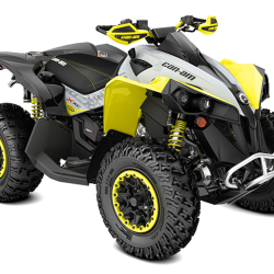 2019 Renegade Xxc 1000R Black, Grey and Sunburst Yellow_3-4 front